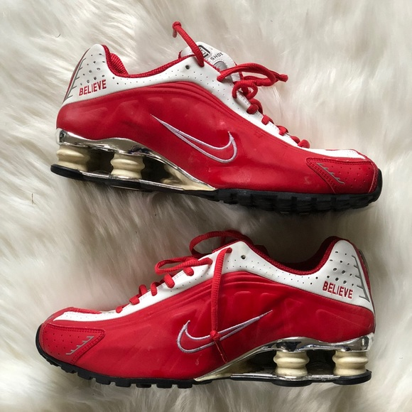 "promo code 709d7 33d01 🆕 Nike Shox Custom Red & White ""Believe"" Sz 8.5"